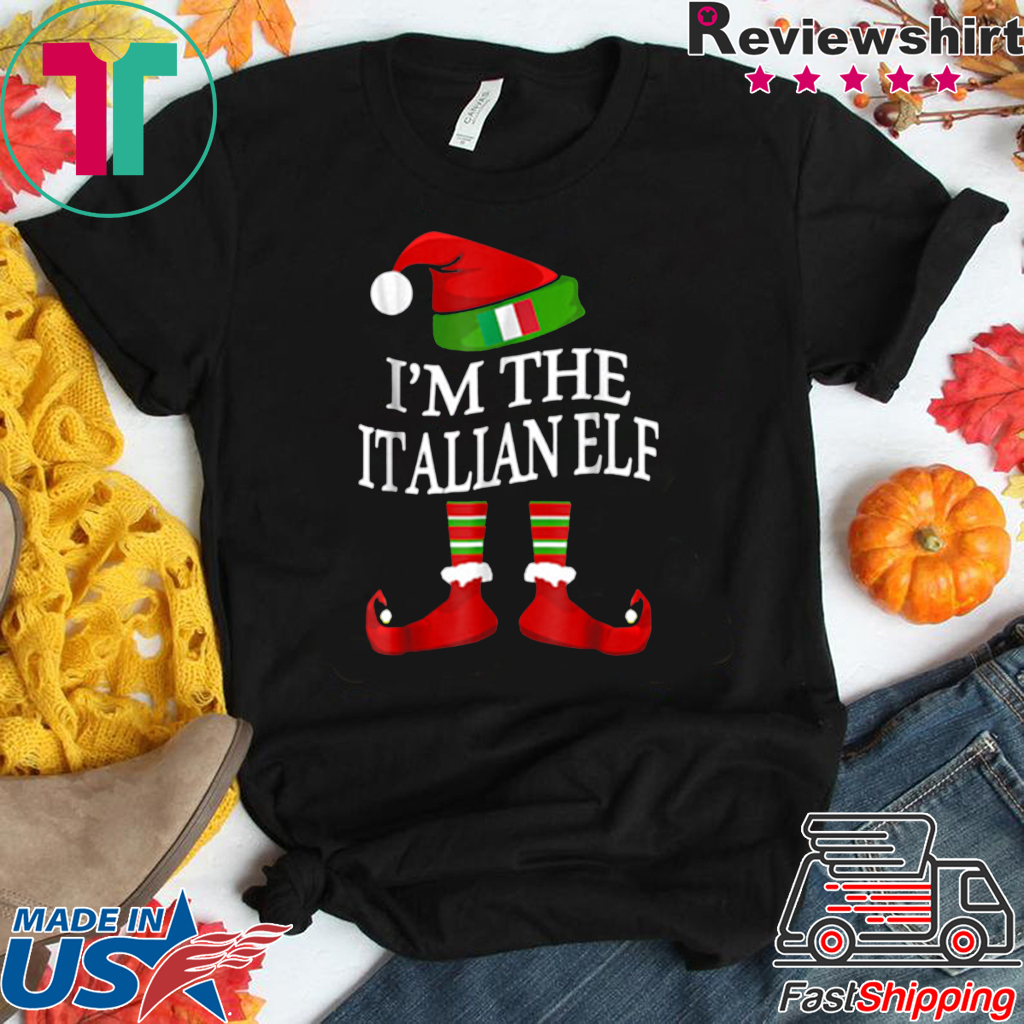 I'm The Italian Elf Matching Group Family Christmas shirt