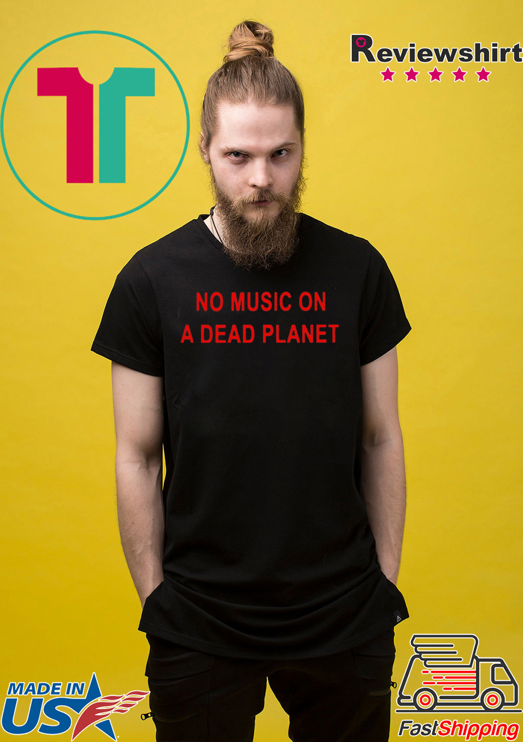 no music on a dead planet Tee Shirt