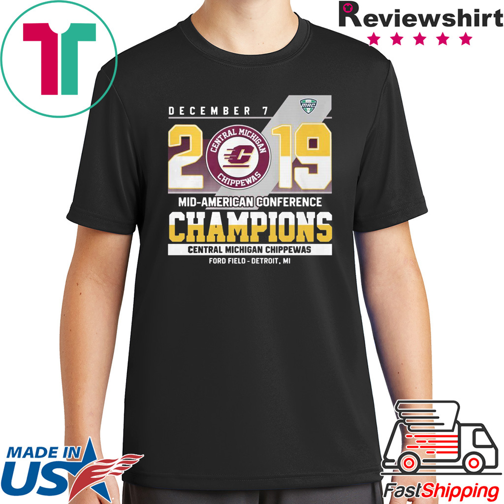 Central Michigan Chippewas december 7 2019 mid american conference shirt