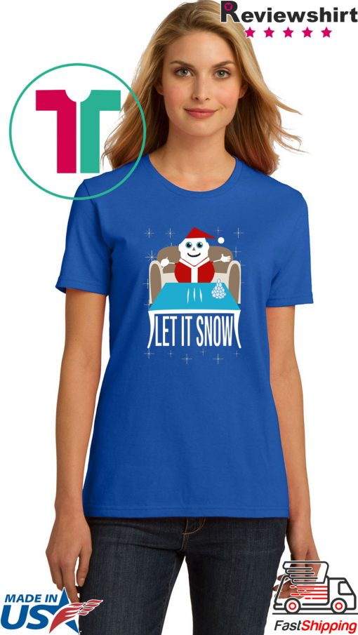 Cocaine Santa Let It Snow Unisex T-Shirts