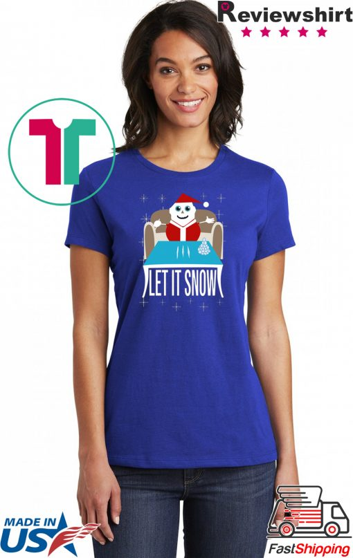 COKE SANTA LET IT SNOW Mens T-Shirt