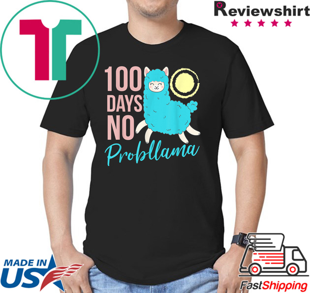 100 Days Of School Llama Shirt