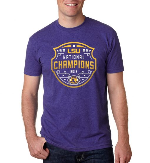 LSU Tigers Football Playoff 2019 National Champions T-Shirts