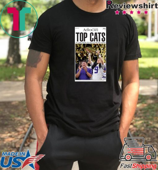 LSU vs Clemson 2020 National Championship TOP CATS Offcial T-Shirt