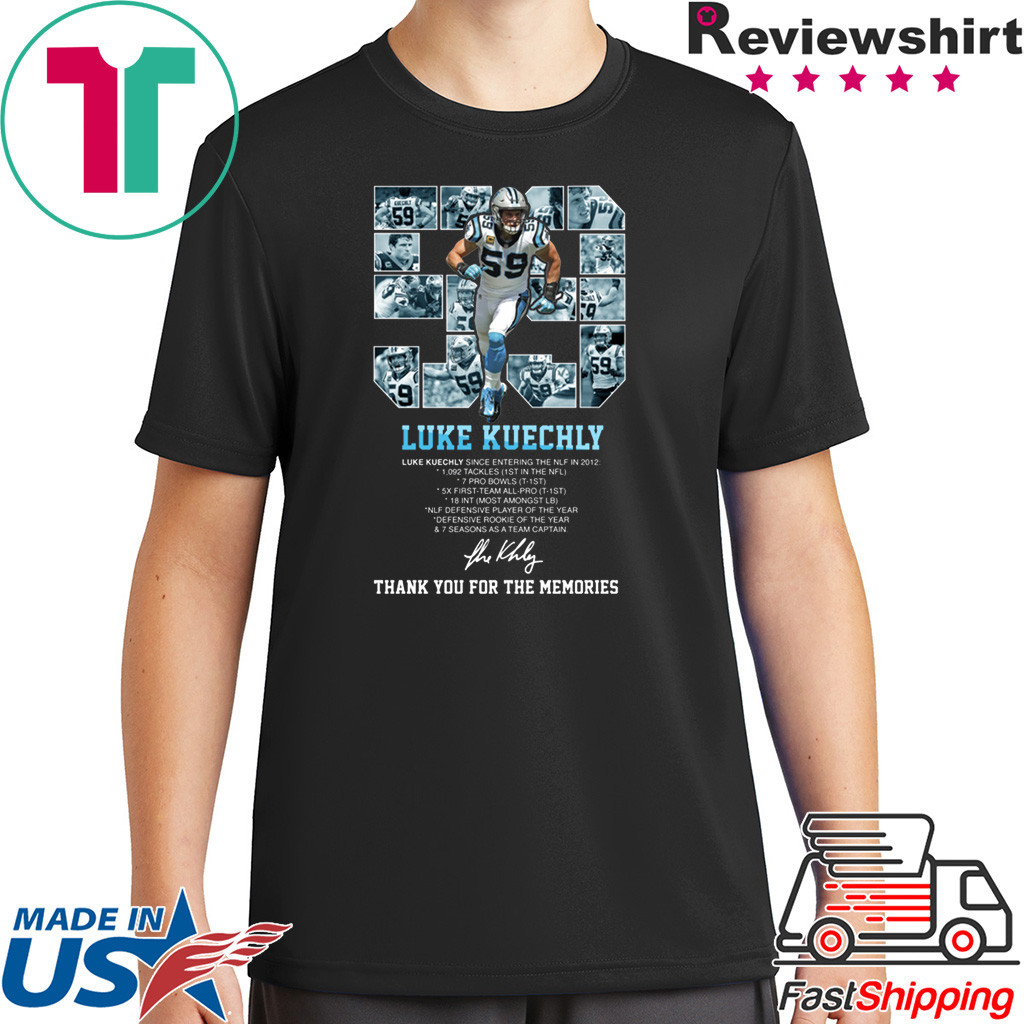 Luke Kuechly Thank You For The Memories Shirt