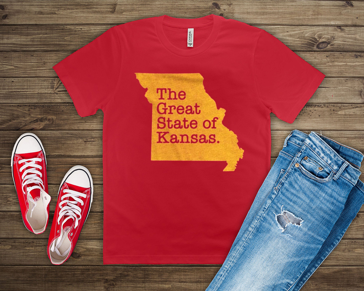 The Great State Of Kansas City Chiefs T-Shirts