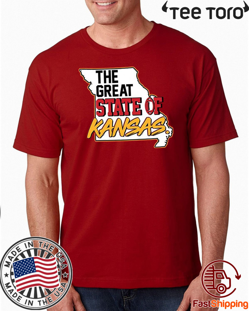 The Great State of Kansas Football 2020 T-Shirt