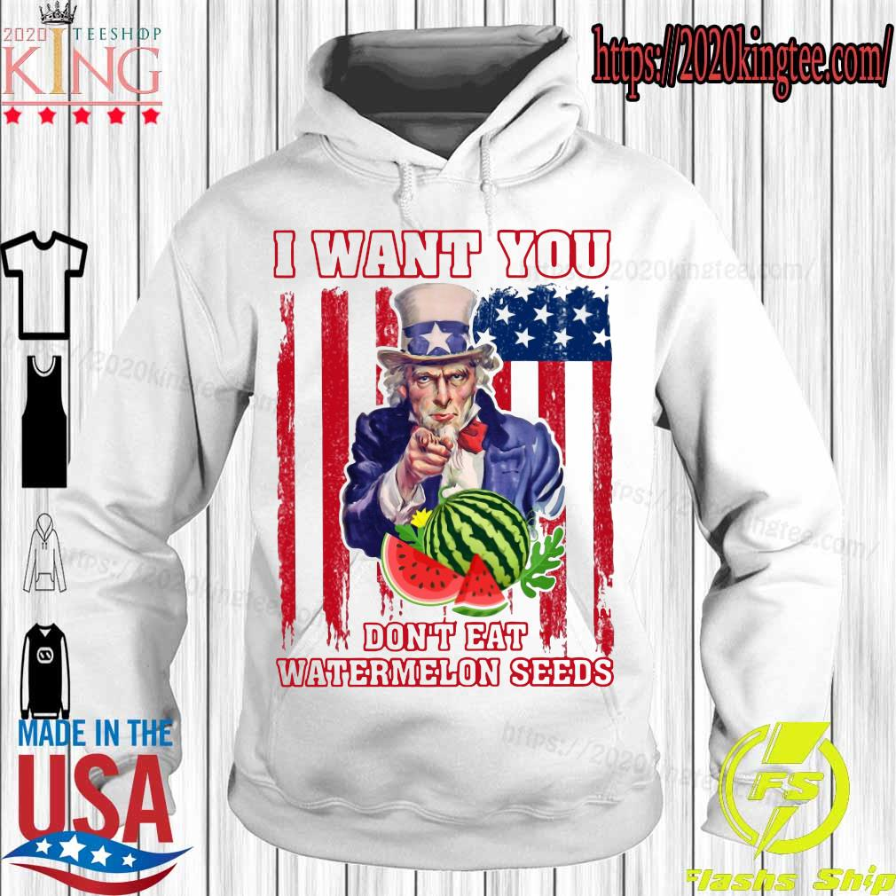 Tio Sam I want you don_t eat watermelon seeds america flag s Hoodie