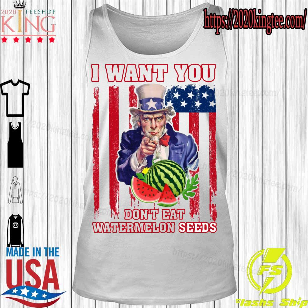 Tio Sam I want you don_t eat watermelon seeds america flag s Tanktop