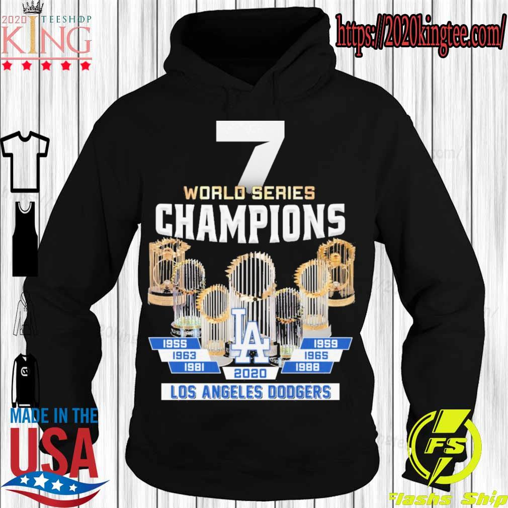 7 World Series Champions Los Angeles Dodgers 2020 s Hoodie