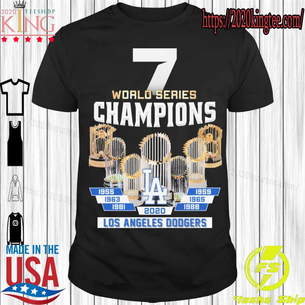 7 World Series Champions Los Angeles Dodgers 2020 shirt