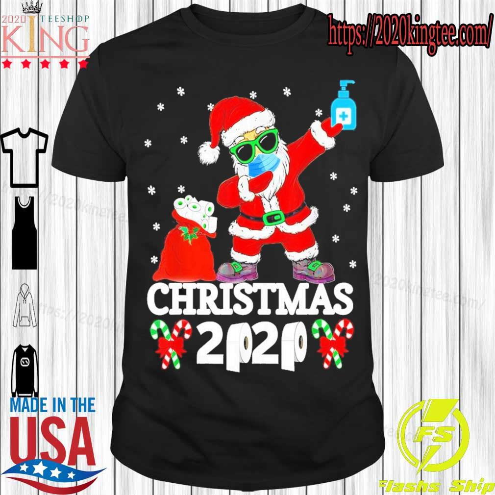 Santa Claus face mask toilet Christmas 2020 shirt