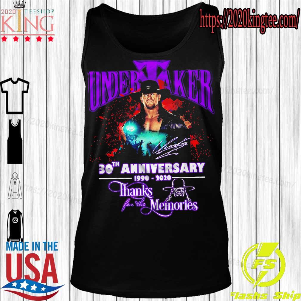 Official Undertaker 30TH Anniversary 1990 2020 thanks for the memories s Tanktop